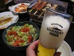 ビールがうまい。