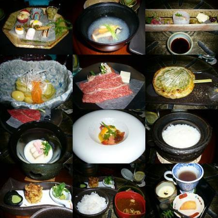 懐石料理の数々