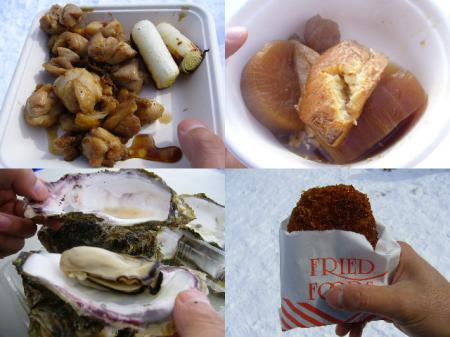 牡蠣は和敷一人食い