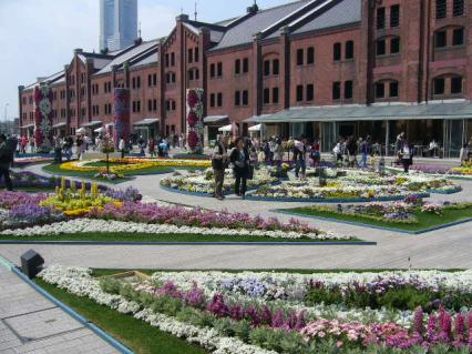 赤レンガ花祭り