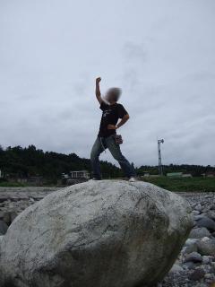 へっぴり腰で登りました