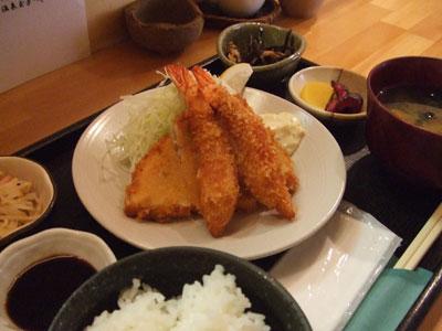 恵比寿ナイトクラブ ハライソ フライ定食