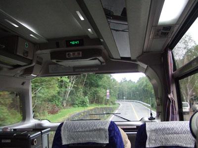 富士登山 行きのバス