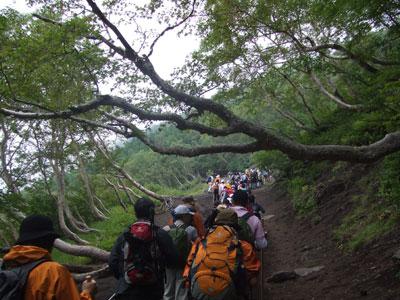 富士登山 5合目近辺