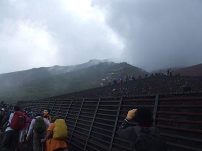 富士登山 7合目