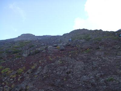 富士登山 7合目以上