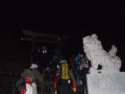 富士山 九合目の鳥居
