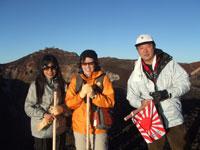 富士山頂 記念写真