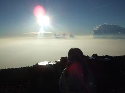 富士山頂 御来光と私