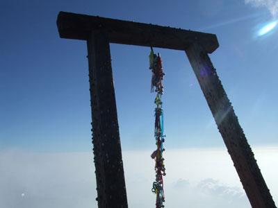 富士山頂 鳥居