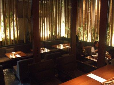 代官山 レストラン COLOR 店内