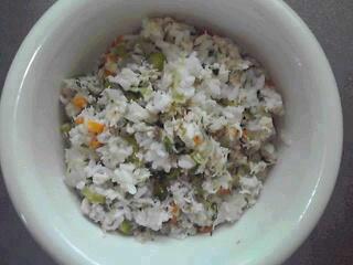 さわらとお野菜の混ぜ混ぜご飯☆