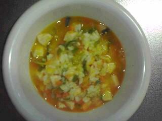 かぼちゃのスープご飯。