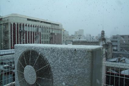積雪5ミリ?!