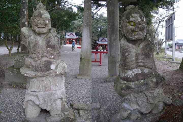 郡山八幡神社の仁王像