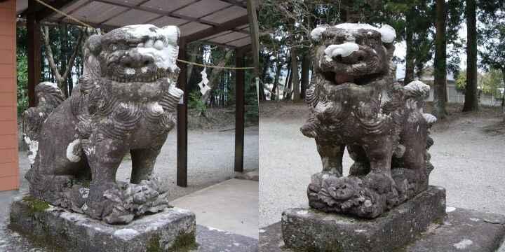 郡山八幡神社の狛犬