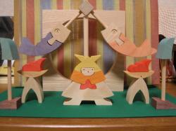 組み木の五月人形