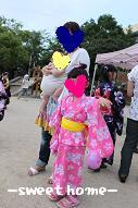 盆祭り家族