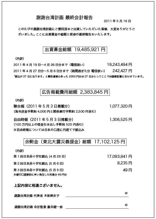 謝謝台湾報告