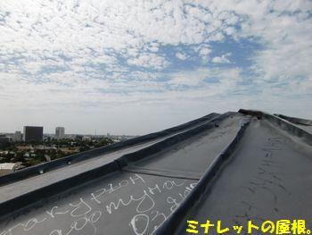 ミナレットの屋根。