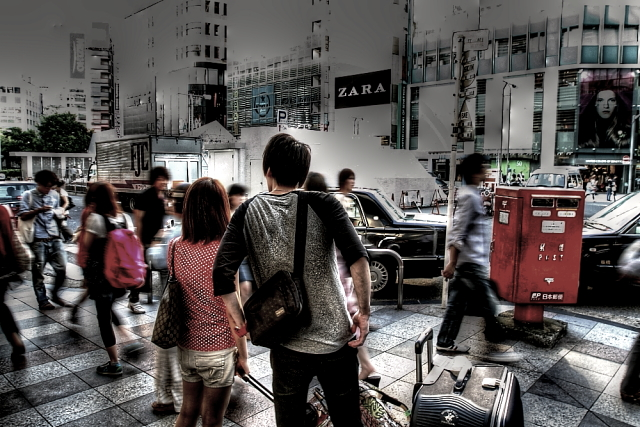 新宿の旅行者