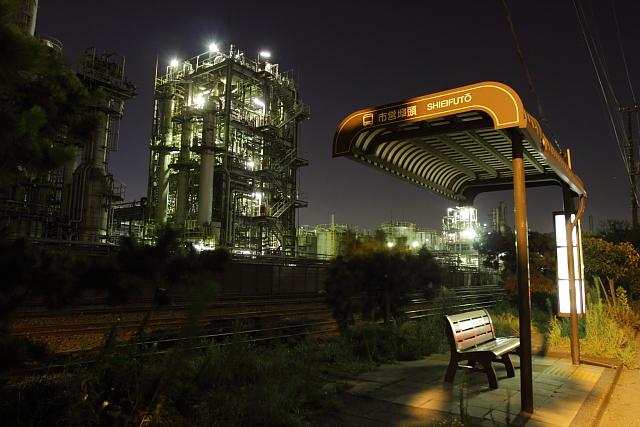 川崎 工場燃え2