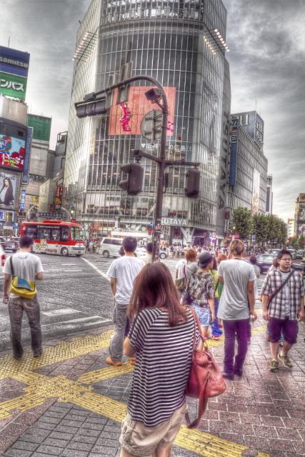曇りの日の渋谷