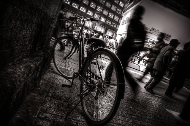 待機自転車