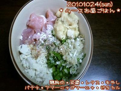 20101024(sun)ムーたんお昼ごはん