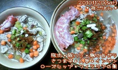 20101120(sat)夜ごはん