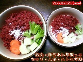 20100222(mon)夕飯