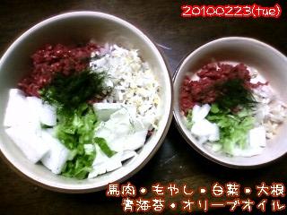 20100223(tue)夕飯