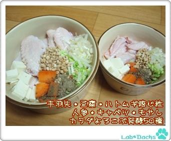 20091027tue/犬ごはん・朝食