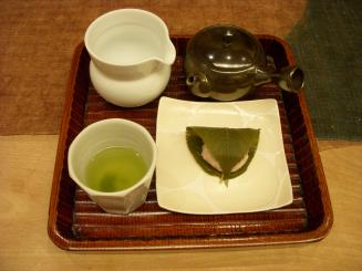 うおがし銘茶 茶の実倶楽部(風まかせ・桜餅)