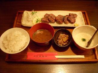 日日是耕日(とんタンのみそ焼きと麦トロロ定食)