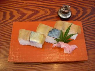 まき埜(押し寿司平日昼限定¥100・通常¥400)