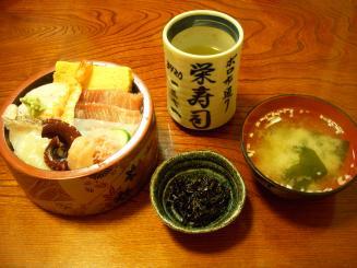 栄寿司(ランチ寿司¥630)