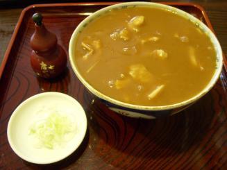 朝松庵(カレー南ばん¥700)