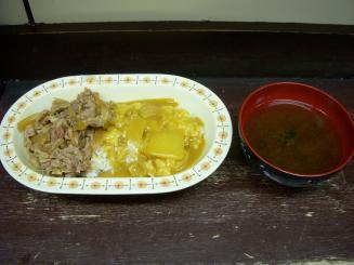 牛八(牛丼カレー(小)¥550)