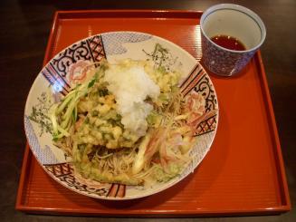 山久(ぶっかけ天ぷらそば¥1300)