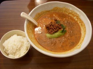 五指山(担々麺(小ライス付)¥850)