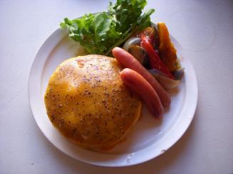 cafe ももちどり(チェダーチーズパンケーキ(きのこのポタージュスープ付)¥1100)