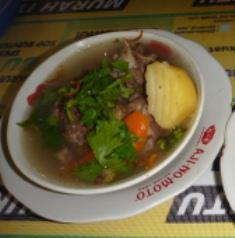 名物牛肉のスープ