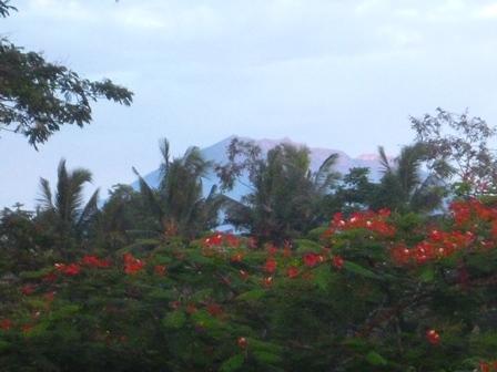 ホテルから見えたアグン山