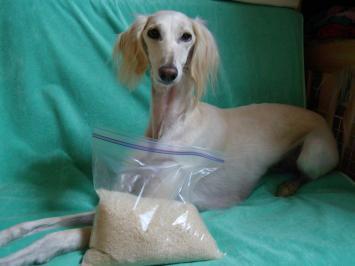 お米をもらったよ!