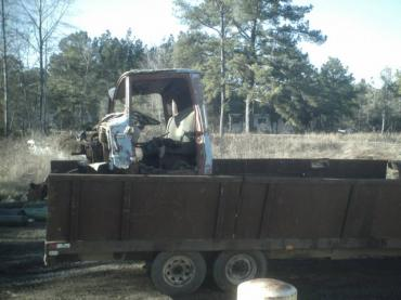 Half of the Truck in the trailer 001