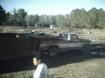 Half of the Truck in the trailer 002