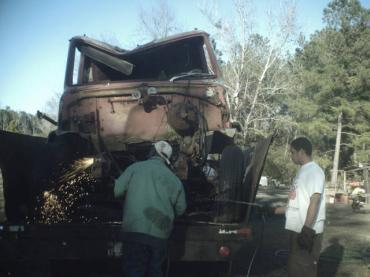 Half of the Truck in the trailer 2 002