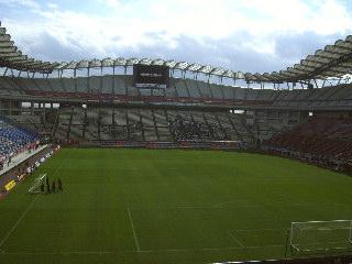 試合前のカシマスタジアム