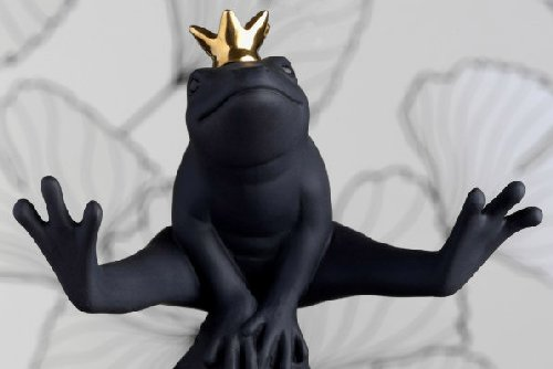 ロイヤルコペンハーゲンgood luck frog black